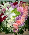 Шикарная композиция в виде сердца на оазисе размером 50см на 50 см. Состоит из розовых, красных, белых роз, лилий, альстромерий, кустовых и одноголовочных хризантем, эустомы, гипсофилы, зелени. Будет ярким, не забываемым сюрпризом для Ваших близких людей!